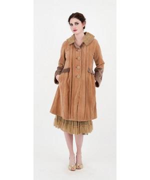 Vintage Style Velvet Ruffle Coat by Nataya