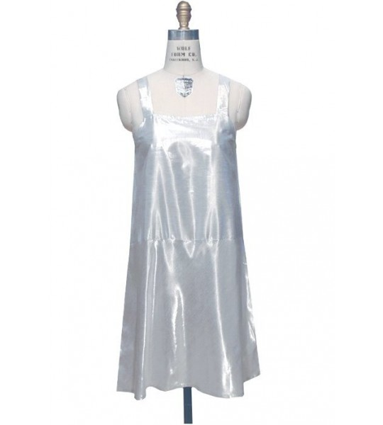 1920s Inspired Slip in Silver Lame by The Deco Haus