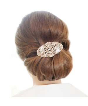 Vintage Inspired Bridal Hair Comb in Rose Gold