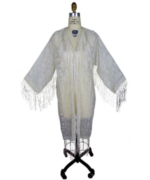 Art Deco Scarf Coat in Wedding Ivory by The Deco Haus