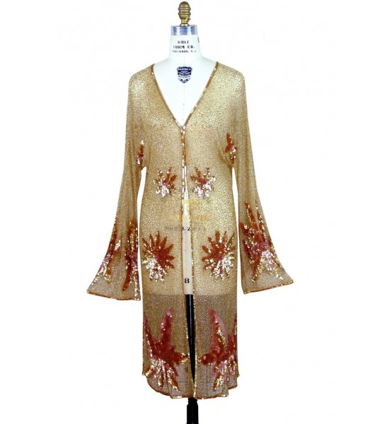 1920s Vintage Inspired Gold Jacket by The Deco Haus