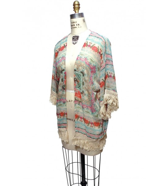 Vintage Inspired Kimono Lounge Jacket in Turkish Floral by The Deco Haus