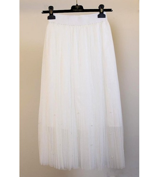 Roaring 20s Midi Skirt in Ivory by The Deco Haus