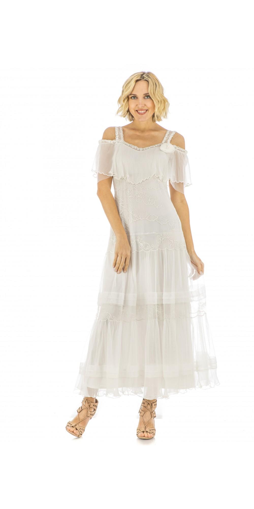 40271 delillah vintage inspired wedding dress in ivory by for Vintage ivory wedding dresses