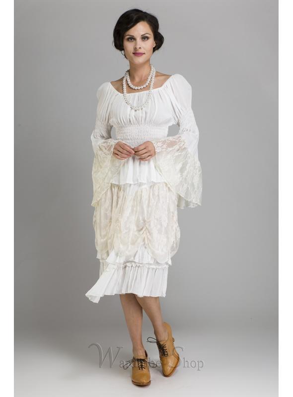 Cowgirl Short White Skirt by Marrika Nakk