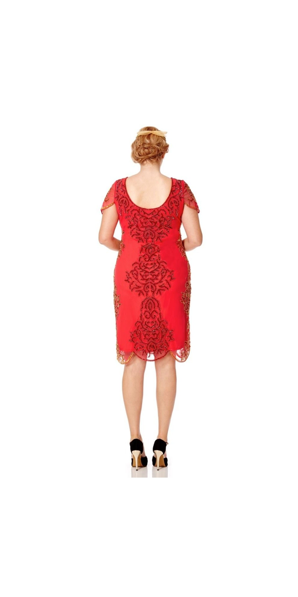 Great Gatsby Style Party Dress in Bright Red