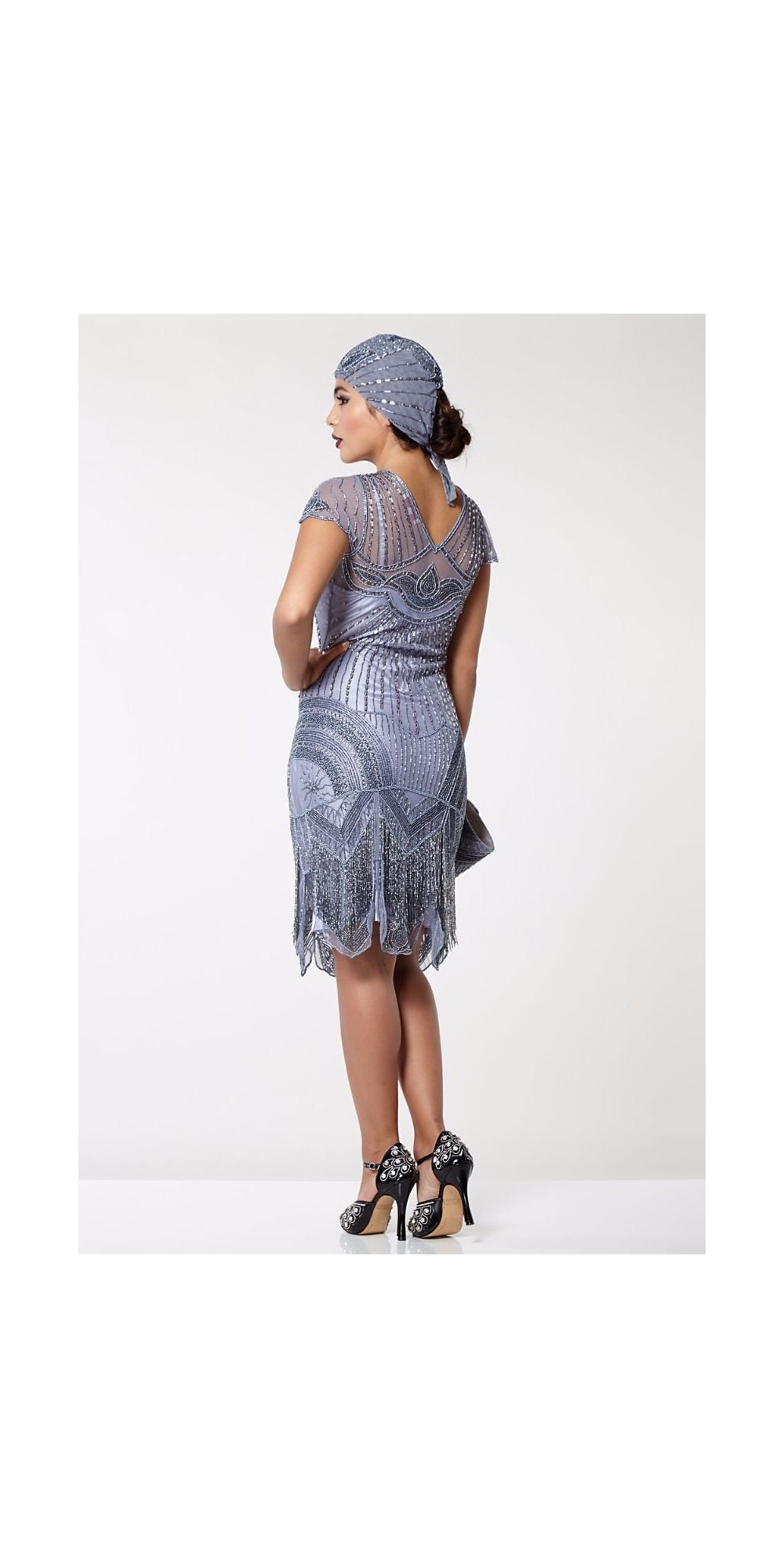 1920s Cocktail Party Dress in Lilac
