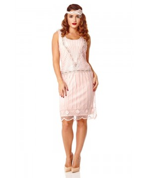 Gatsby Style Cocktail Party Dress in Pink
