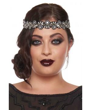 Flapper Style Headband in Black Silver