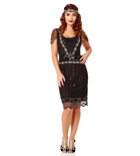 Charleston-Inspired Dress in Black