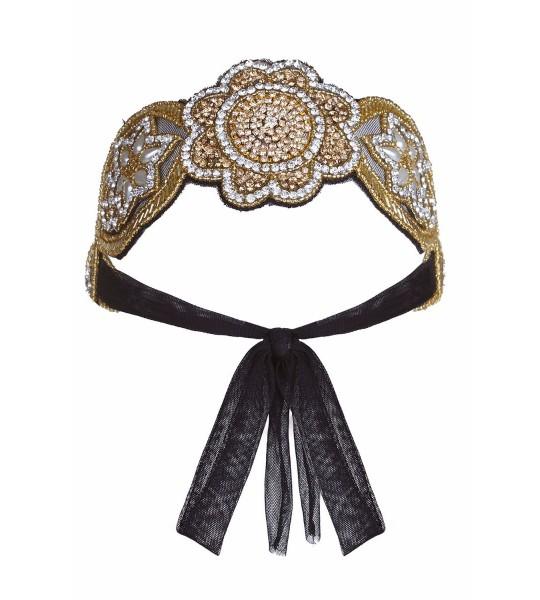 Roaring 20s Style Headband in Gold & Silver