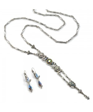 Victorian Style Y Necklace & Earrings Set