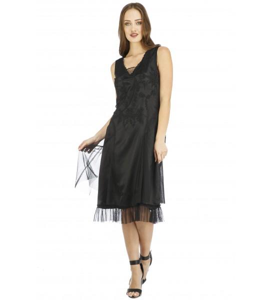Age of Love Tara AL-254 Vintage Style Party Dress in Black by Nataya