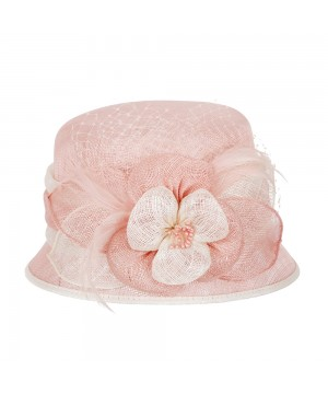 1920s Flapper Sinamay Hat in Pink