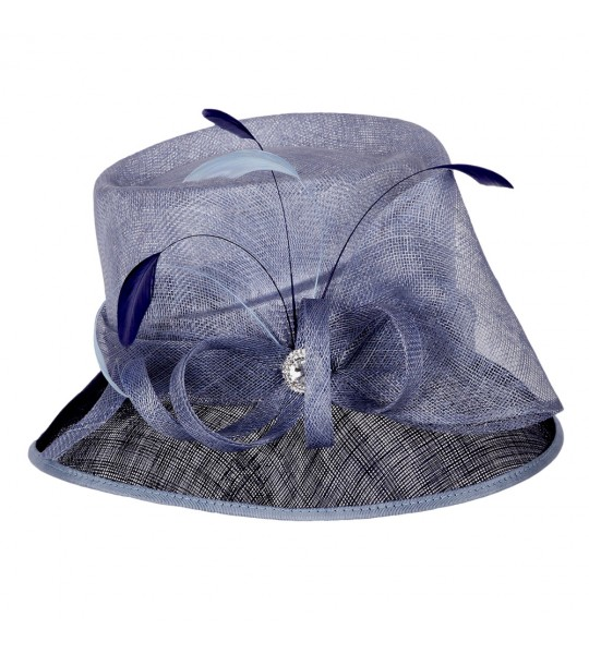 1920s Style Loopy Sinamay Hat in Navy