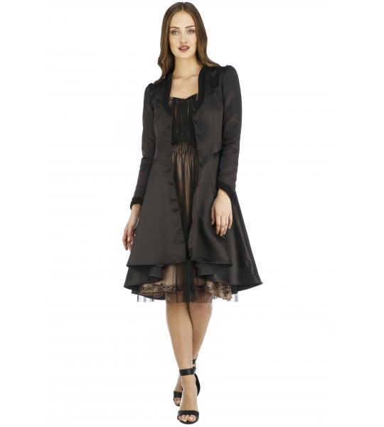 Adele Vintage Style Jacket in Black by Nataya