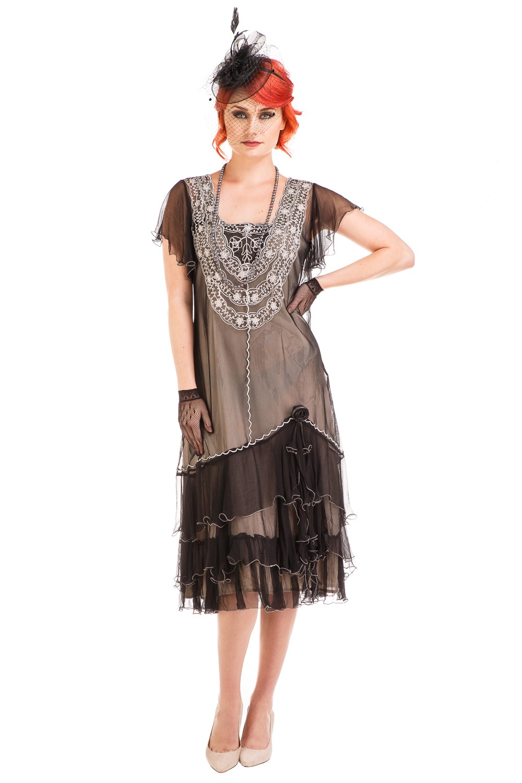 Age of Love Alexa 1920s Flapper Style Dress in Black ...