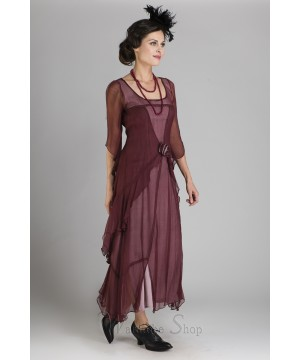 10709 Great Gatsby Party Dress in Garnet by Nataya