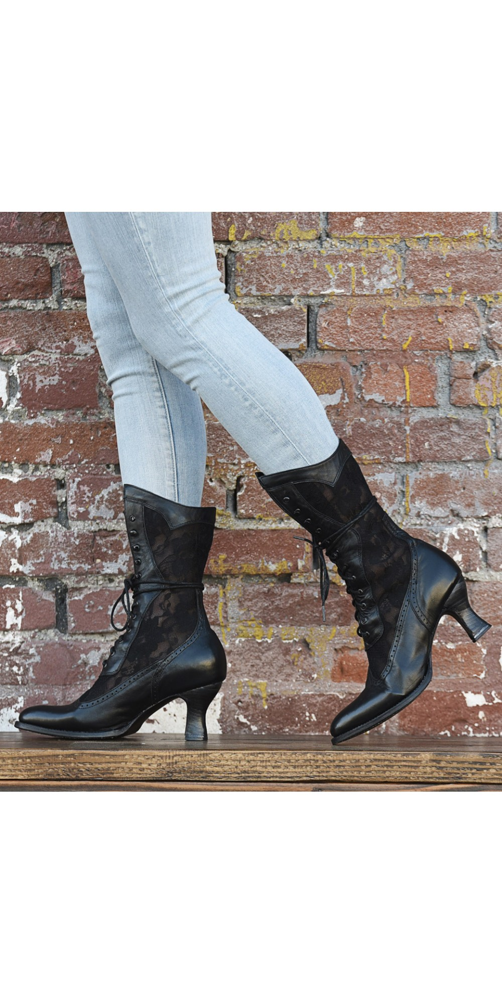 Victorian Inspired Leather \u0026 Lace Boots