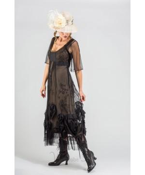 "40264 ""Rose"" Vintage Inspired Party Dress in Black by Nataya"