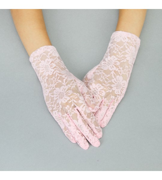 Graceful in Lace Lady Mary Gloves in Pink