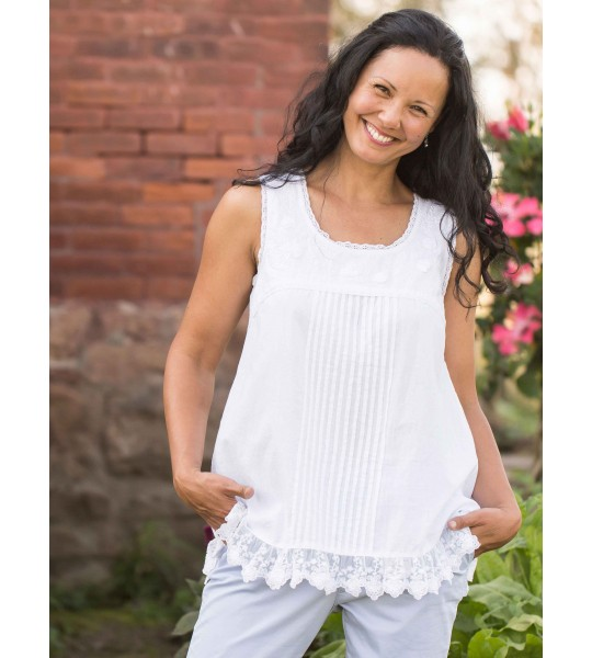Vintage Style Camisole in White by April Cornell