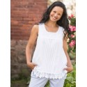 Vintage Style Camisole in White