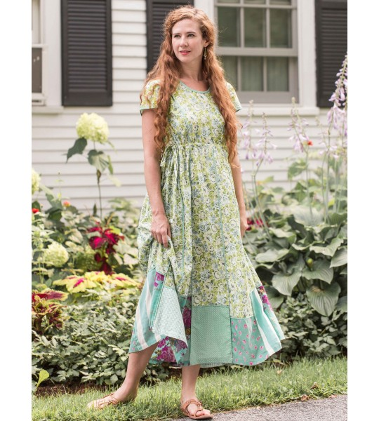 Victorian Style Tea Party Dress in Green by April Cornell