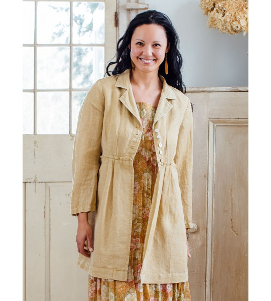Vintage Inspired Jacket in Tan by April Cornell