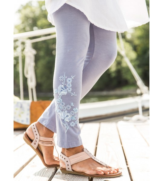 Vintage Style Tapestry Legging in Periwinkle by April Cornell