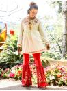 Romantic Western Style Blouse in Ecru by April Cornell