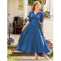 Romantic Rustic Dot Dress in Blue