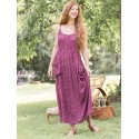 Romantic Courtyard Dress in Purple | April Cornell - SOLD OUT