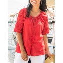 Vintage Inspired Blouse in Red