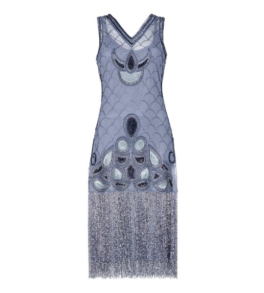 Fringe Jazz Party Dress in Lilac