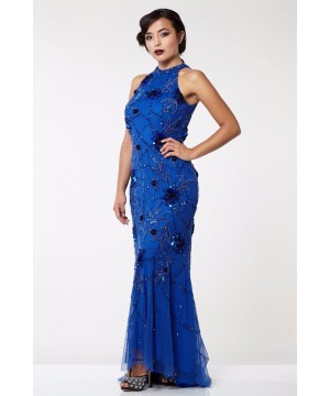 Gatsby Style Maxi Dress in Royal Blue