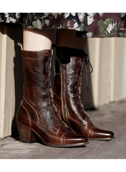 Baisley Modern Vintage Boots in Teak by Oak Tree Farms