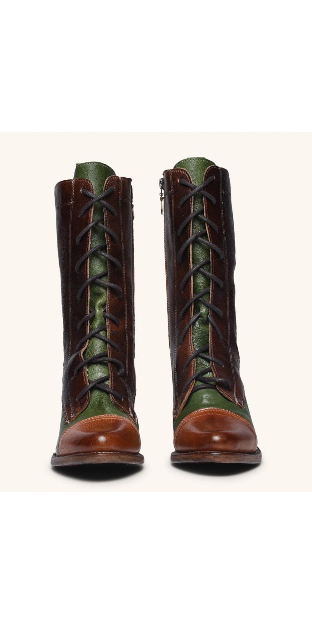 Oak Tree Shoes Cognac Victorian Boots Size