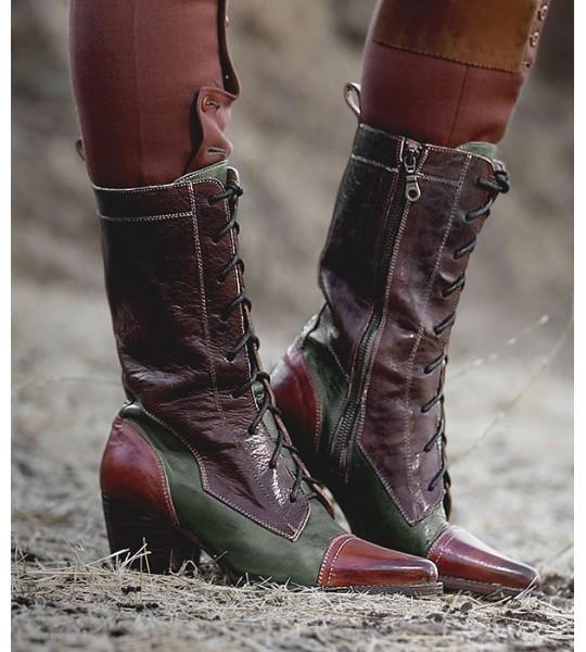 Baisley Modern Vintage Boots in Cognac Teak by Oak Tree Farms