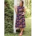 Vintage Inspired Porch Dress in Navy | April Cornell