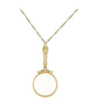 Antique Inspired Magnifying Glass Necklace by 1928 Jewelry