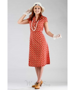 Romantic Paisley Porch Dress in Red by April Cornell