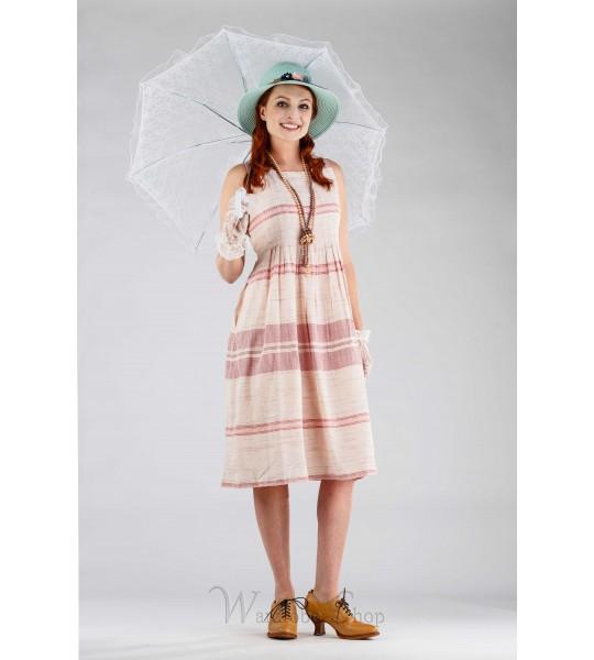 Romantic Fraise Dress in Pink/Ecru by April Cornell