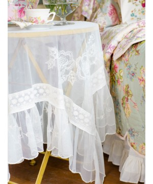 Tea Lace Tablecloth in Ecru by April Cornell