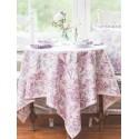 Lemon Mousse Cotton Tablecloth in Ecru