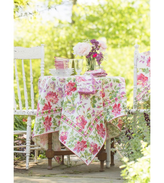Mint Lemonade Cotton Garden Tablecloth