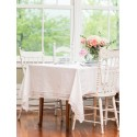 Nectarine Tart Jacquard Tablecloth in Ivory | April Cornell