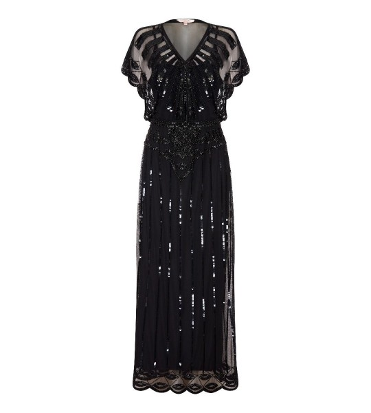 Gatsby Style Maxi Dress in Black - SOLD OUT