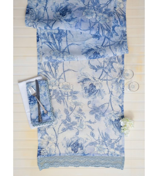 Ladylike Table Runner in Soft Blue by April Cornell