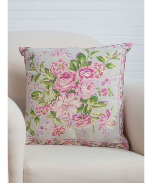 Strawberry Shortcake Cushion in Sage by April Cornell